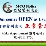 【MCO 通告】愿景中医于 行动管制期间 – 正常营业!